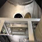Reperationer af korrosionsskade inden i scrubber demister