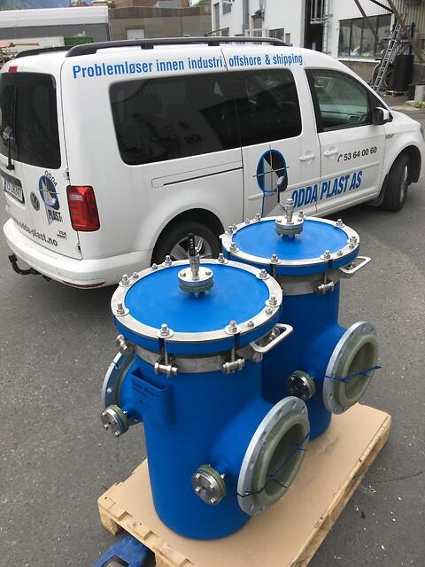 Sjøvannsfilter - Unngå koorosjon ved å bruke GRE eller PE sjøvannsfilter.