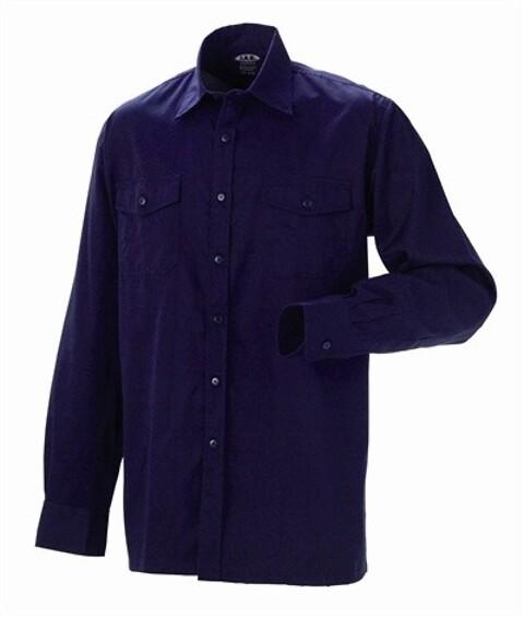 Arbejdsskjorte, antiflame/antistatisk, marine - 12021