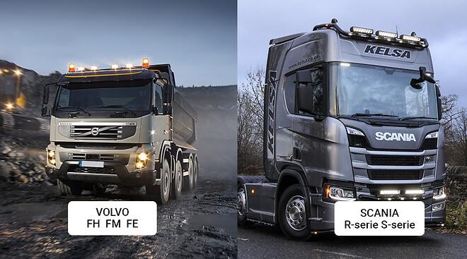 Lastbil modellanpassade extraljus, varningsljus och arbetsljus