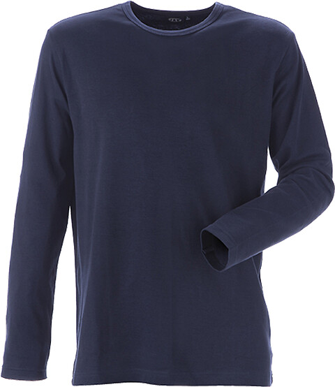 T-shirt, langærmet, marine - 8522
