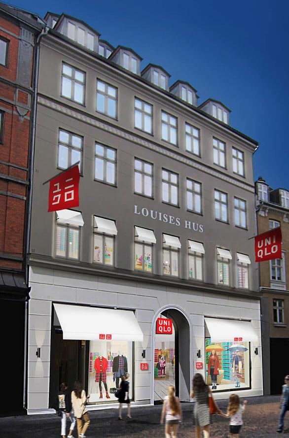 bfd75b055531 Uniqlo åbner butik i grevinde Danners gamle lokaler på Strøget i København.