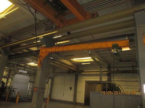 Brugte vægsvingkraner 500-1250 kg udlæg fra 2.85- 7 mtr. sælges fra stålspecialisten