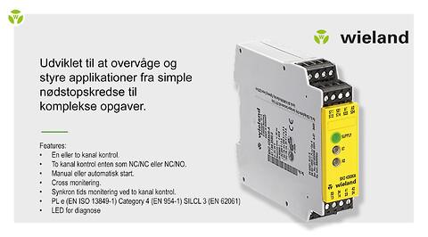 Wieland Electrics sikkerhedsrelæ type SNO 4083