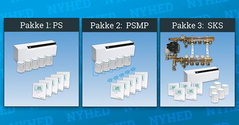 Pettinaroli pakker til COMFORT IP gulvvarmesystemet - Pettinaroli har samlet 3 pakkeløsninger med det intelligente COMFORT IP gulvvarmesystem
