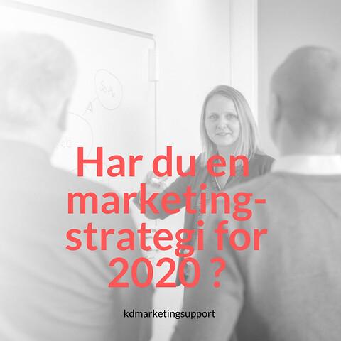 Markedsføring for 2020? - Har du en markedsføringplan for  2020?