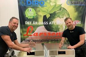 Anders och Emil Larsson på Larssons Eltjänst i Örebro AB