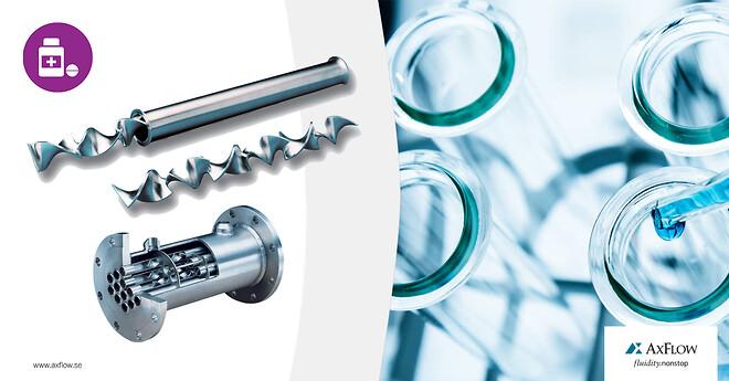 Kenics biopharma mixers och värmeväxlare