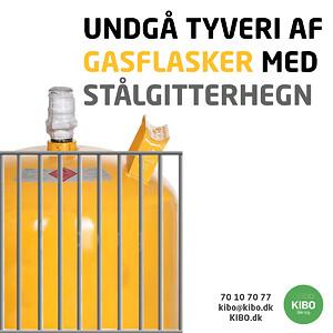 Undgå tyveri af gasflasker med stålgitterhegn
