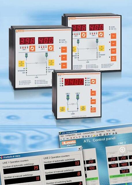 Automatisk switch controller imellem 2 elforsyningskilder fra Lovato