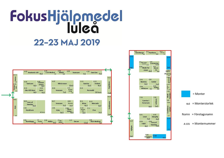 Luleå hall overview