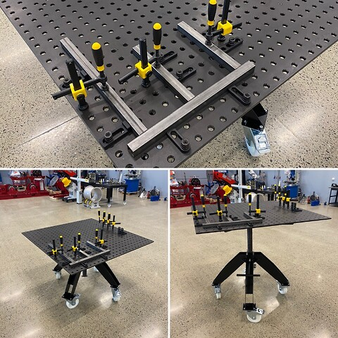 Demo / utstillingsbord sveisebord 1200x1200mm inkl tilbehør - S16