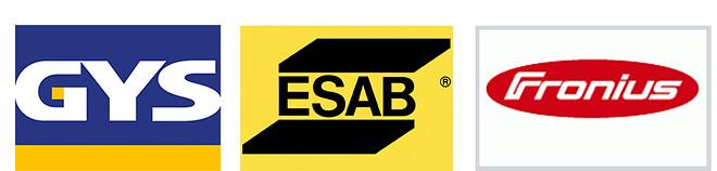 Logo. GYS ESAB og Fronius