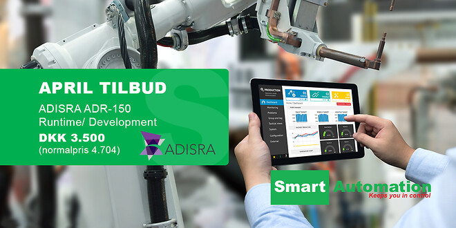April tilbud fra Smart Automation ApS | ADISRA ADR-150 Runtime/Development DKK 3.500