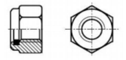6-KT låsemutter DIN 985 8 stål EZ fra Interkit AS