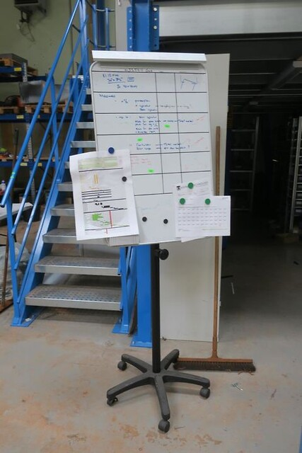 Whiteboard på stativ