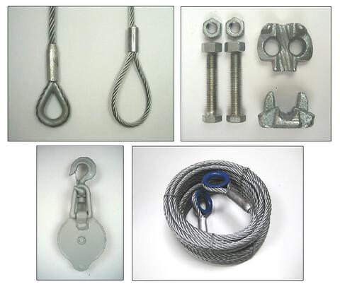 Køb wirer og tilbehør hos Danløft! - Wire, kovser, wirestropper, wireblok, wirelås