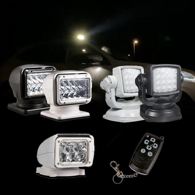 LED søgelys med fjernbetjening
