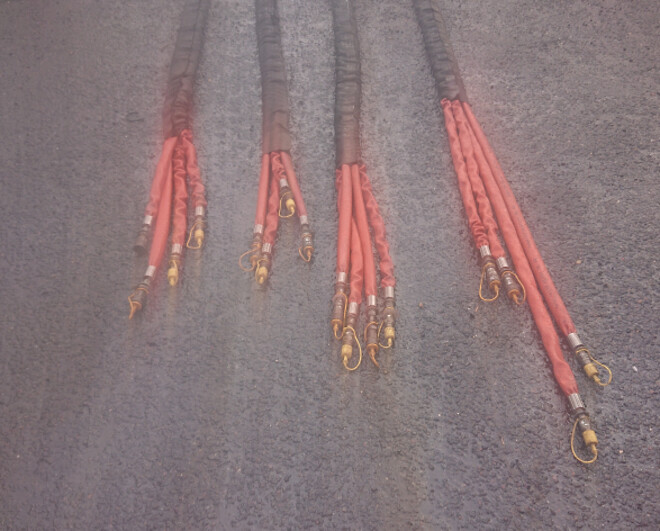 Antflame strømper hydraulik slanger