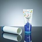 Et produkt eksempel, tube produsert av post consumer råstoff
