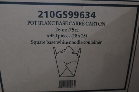 525 stk. kvadratisk hvid pasta- og nudelboksfirstpack 210GS99634