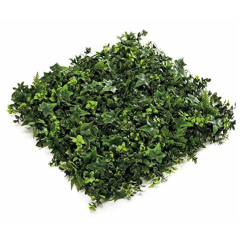 Bladmix plade, 50x50cm, kunstig plante