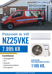Panasonic NZ25VKE varmepumpe VS Automatic