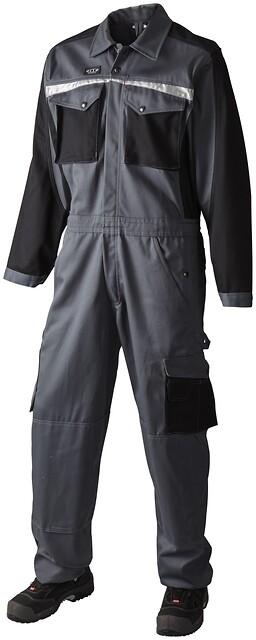 Kedeldragt, grå/sort - 10208