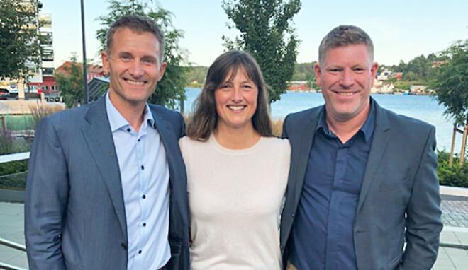 Håvard Moe, styrelseordförande för Future Materials, Aslaug Hagestad Nag, VD\nVD för Future Materials och Kjetil Larsen, VD för Norner.