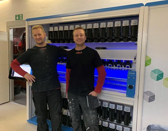 Thomas og Morten Grahn, ejere af Skyttemarkens Autolakering