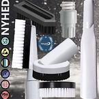 Rengøringsudstyr, Rengøringsudstyr til  fødevareindustri, mundstykker til Pharma, fødevareegnet rengøringsudstyr, FDA, ESD, detekter-bar, farvekodet.