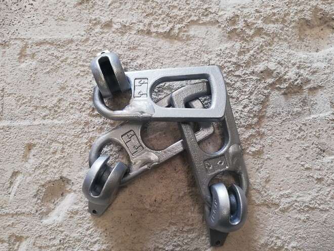 Ringkobling for DEHA for løft og transport af beton elementer\nmed originale indstøbningsankre