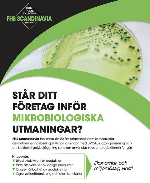 Listeria, salmonella och coli? Har du mikrobiologiska utmaningar i produktionsmiljön?