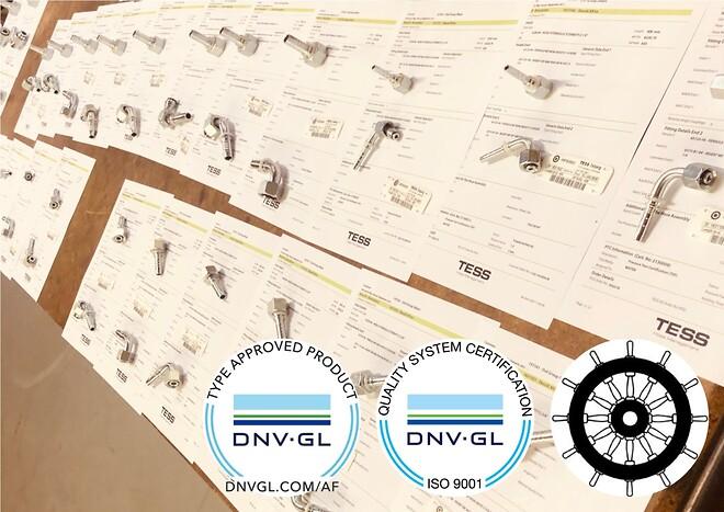 ISO 9001 og Mar-Ed godkendt | TESS Danmark