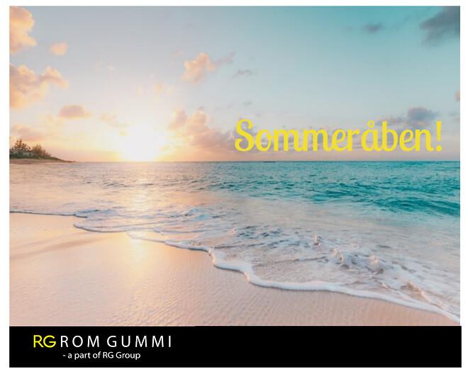 RG Rom Gummi A/S holder sommeråben