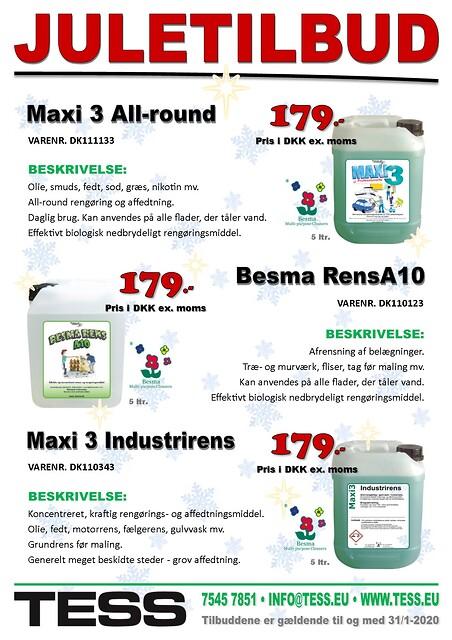 JULETILBUD - Miljørigtig rengøring med Besma RensA10 - Miljørigtig rengøring med Besma | Maxi 3 All-round, Maxi 3 Industrirens, Besma Rens A10 | Juletilbud hos TESS