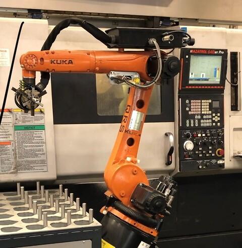 CNC bearbejdning af stål og plastik - Mazak Integrex med Kuka robot