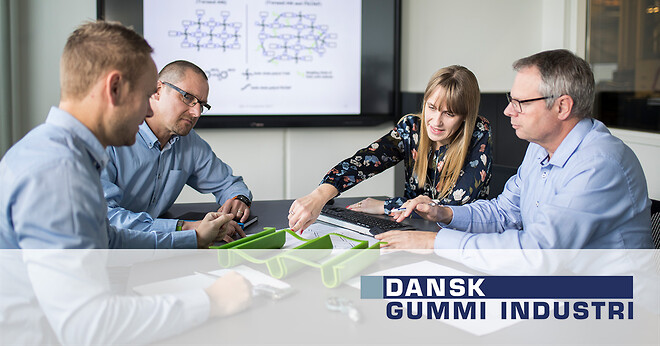Innovationspartner gummi polyuretan formstøbt pur Dansk Gummi Industri vindmøller