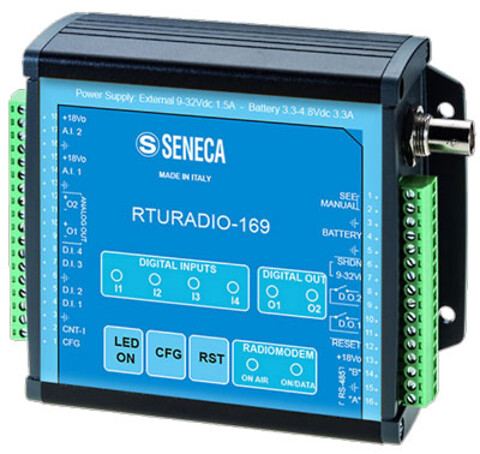 Radiomodem 169 mhz med indbygget I/O, tæller og RS485