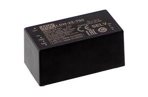 LDH-25 med DC/DC LED udgang fra Mean Well. Forhandler er Power Technic. Ring 70 208 210.