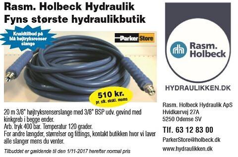 """Højtryksrenserslange 3/8"""" 20 m. 510 kr. - TILBUD"""