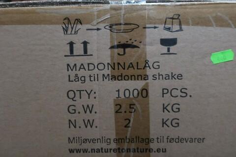 5000 stk. låg til madonna shake nature to nature