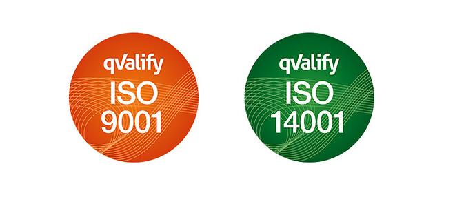 Coromatic kvalitet- og miljøpolitik ISO 9001 og 14001 certif