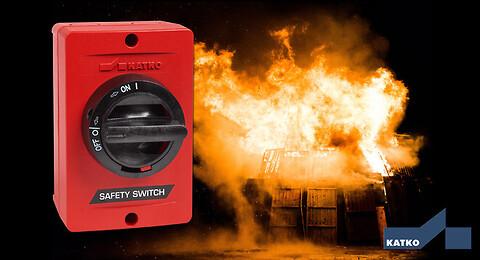 Brandsikker afbryder sikrer strømforsyning ved op til 300°C - Brandsikker afbryder F200 / F300 fra MTO electric a/s