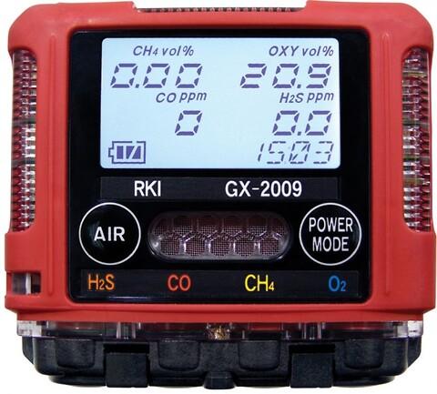 Gassdetektor (LEL, O2, H2S & co) Riken GX-2009 fra Max Sievert