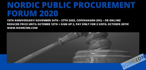 Nordic Public Procurement Forum 2020 - Nordic Public Procurement Forum 2020 - Nohrcon