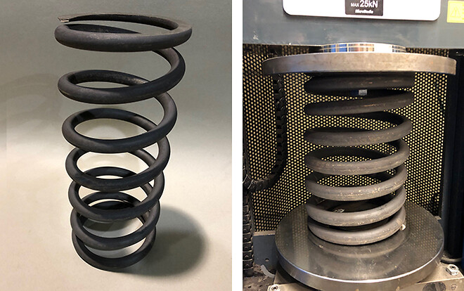 Compression springs in tool steel.