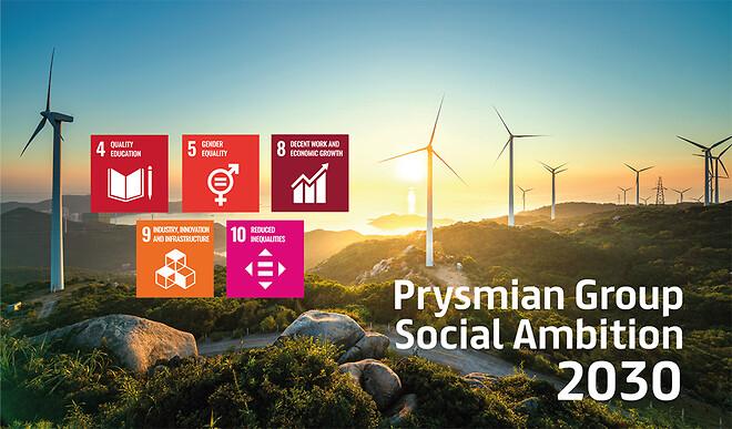 Prysmian Social Ambition 2030 mål