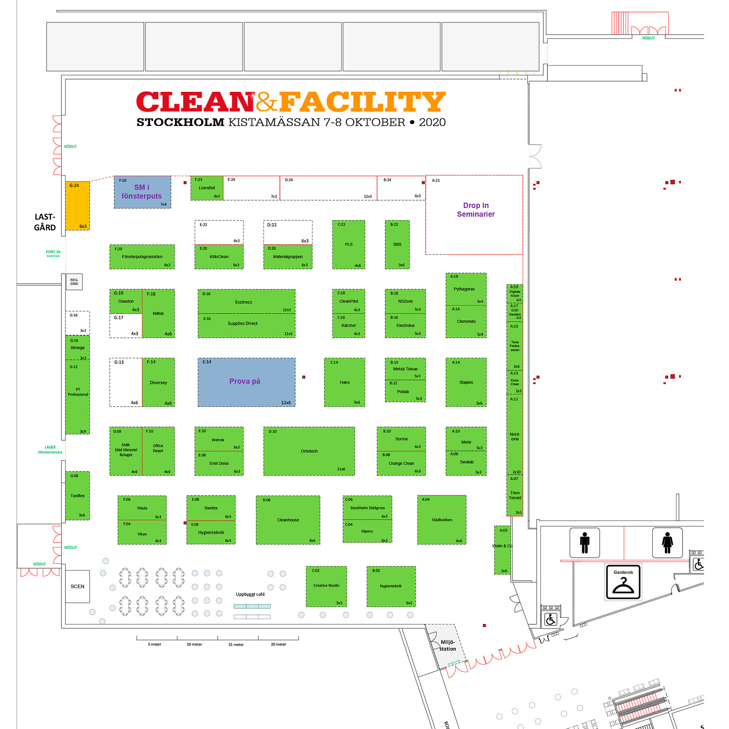 Clean & Facility 2021 hall overview