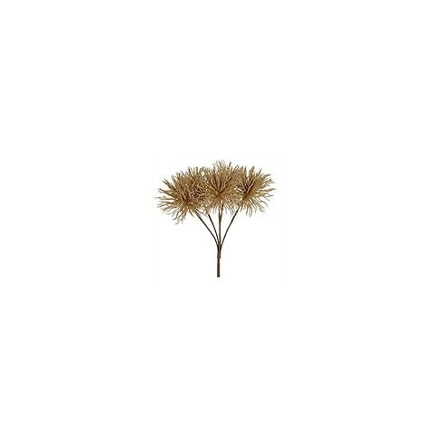 Tidsel buket, guld, 30cm, kunstig blomst